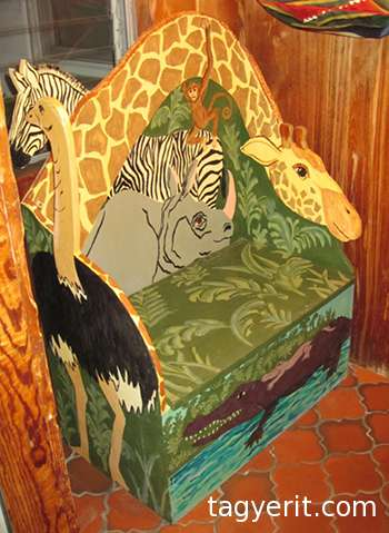 Jungle animal bench